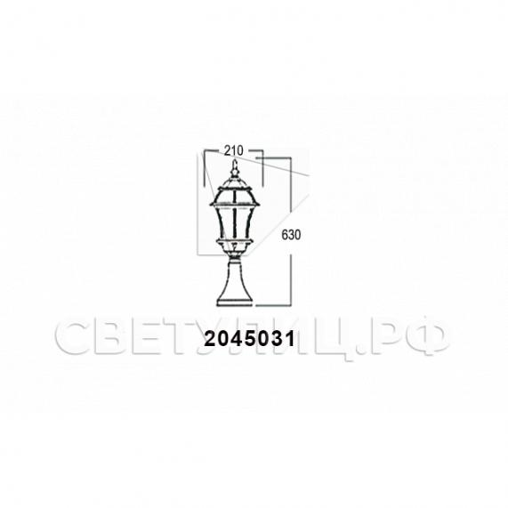 Садово-парковые светильники 1019, 2045 25