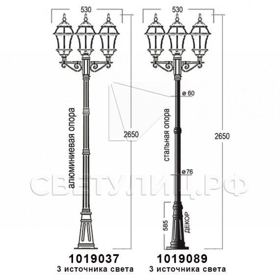 Садово-парковые светильники 1019, 2045 20