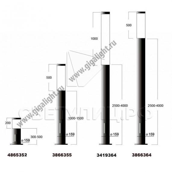 Садово-парковые светильники 3335, 3336, 3419, 3866, 5422, 4860, 4865 в Актобе 2