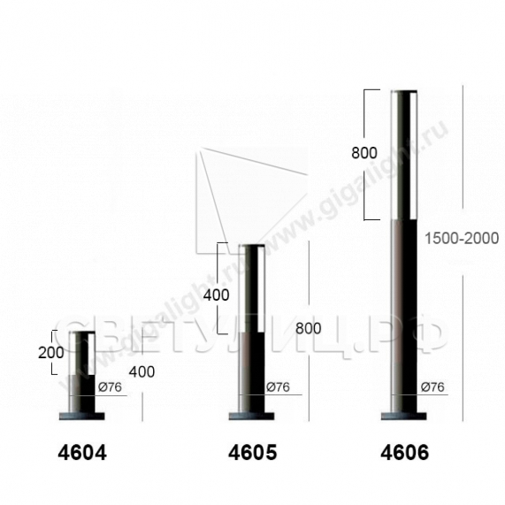 Садово-парковые светильники 4601-4609 2