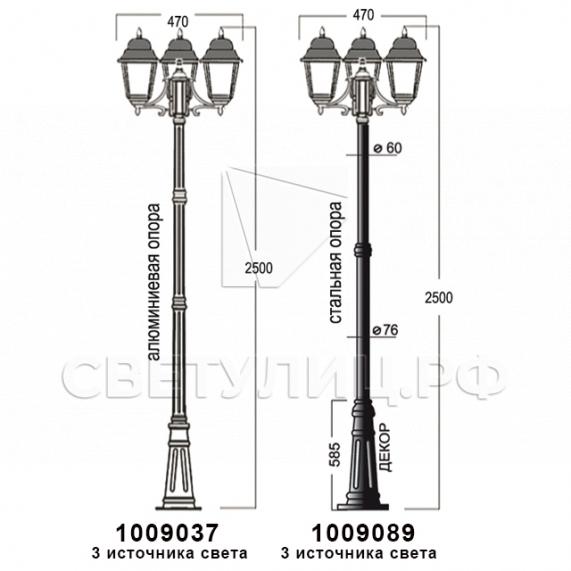 Садово-парковые светильники 1002, 1009, 2039, 2189 29