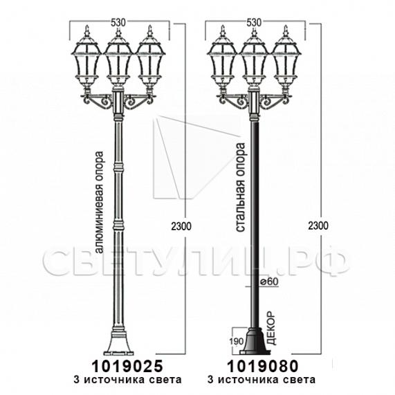 Садово-парковые светильники 1019, 2045 17