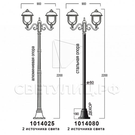 Садово-парковые светильники 1014 в Актобе 11