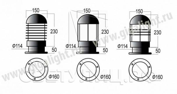 Садово-парковые светильники 4034, 4065, 4066, 4035, 4067, 4068, 4070, 5069 2