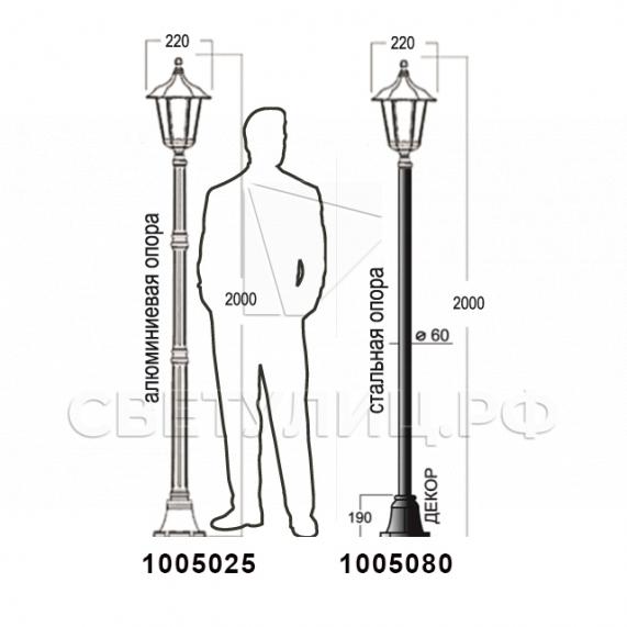 Садово-парковые светильники 1001, 1005, 2036, 2037 в Актобе 21