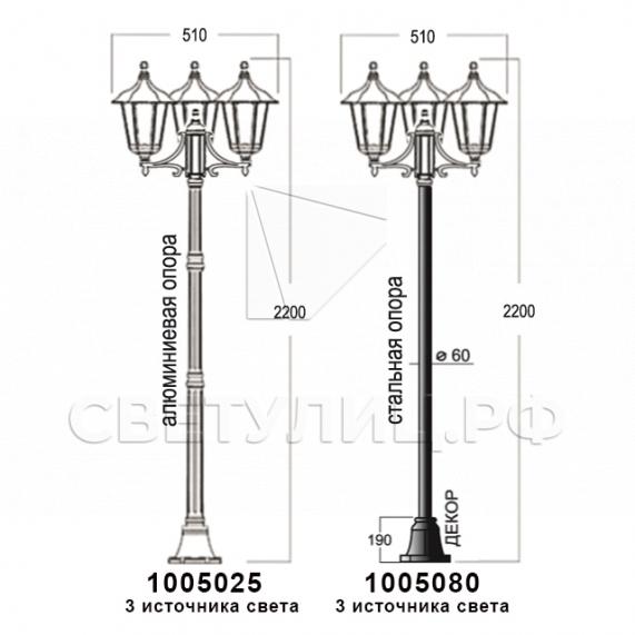 Садово-парковые светильники 1001, 1005, 2036, 2037 в Актобе 23