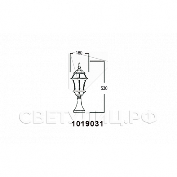 Садово-парковые светильники 1019, 2045 10