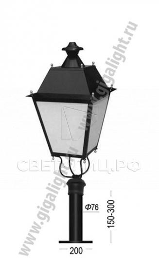 Садово-парковые светильники 2189, 2826 7