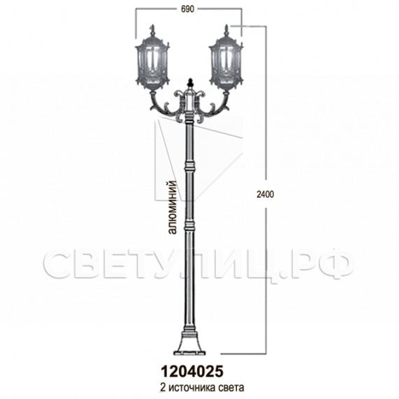 Садово-парковые светильники 1204, 2574, 2573 17