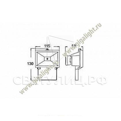 Прожектор светодиодный 10 Вт  - 5289 1