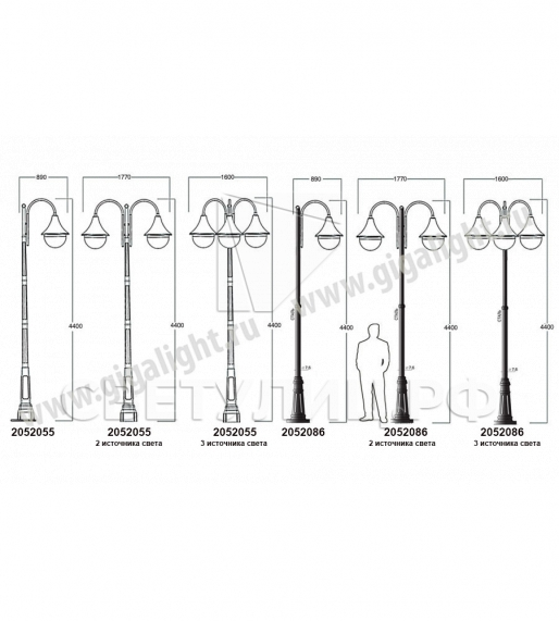 Садово-парковые светильники 1012, 2052 в Актобе 3