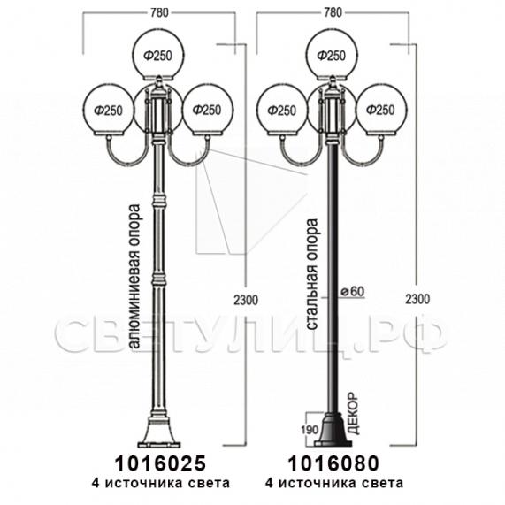 Садово-парковые светильники 1016, 2042 11