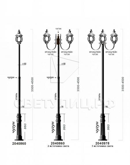 Садово-парковые светильники 1020, 2040 в Актобе 3