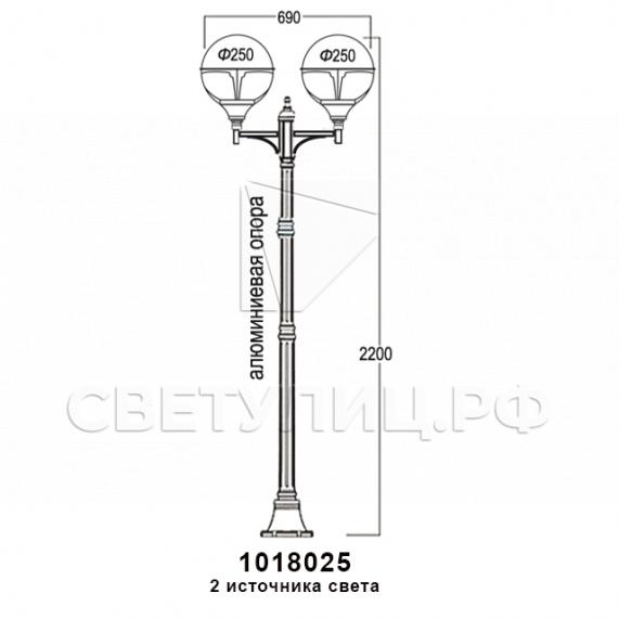 Садово-парковые светильники 1004, 1018, 2044 17