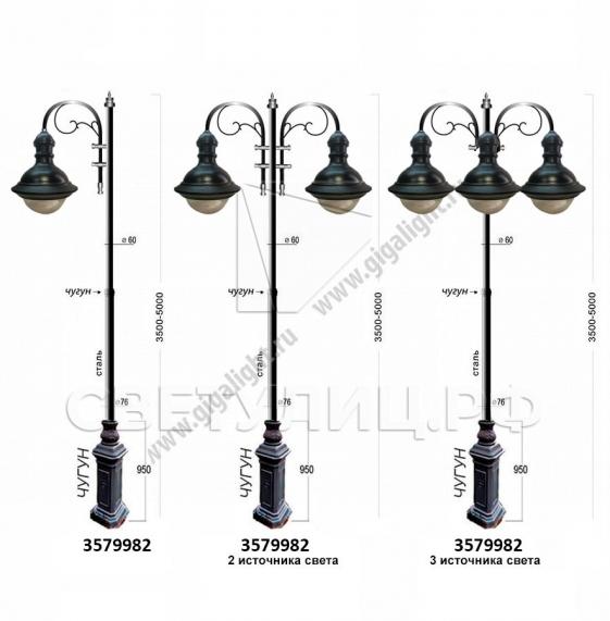 Садово-парковые светильники 3571, 3579 в Актобе 1