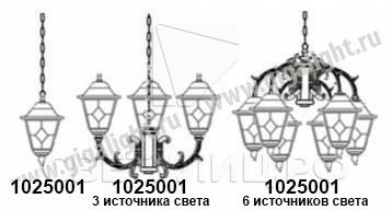 Садово-парковые светильники 1025 3