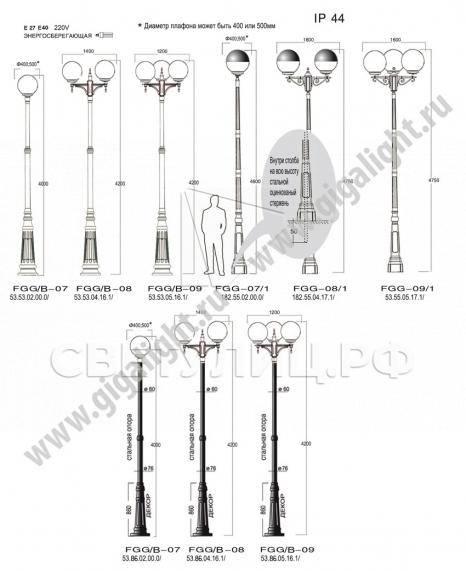 Садово-парковые светильники 2053 в Актобе 1