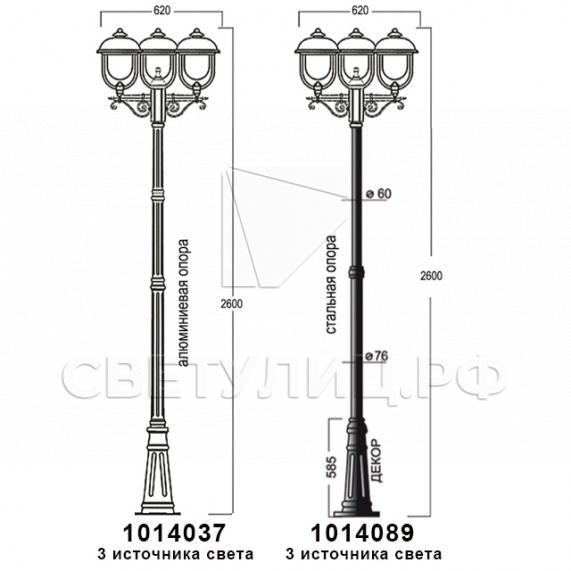 Садово-парковые светильники 1014 в Актобе 15