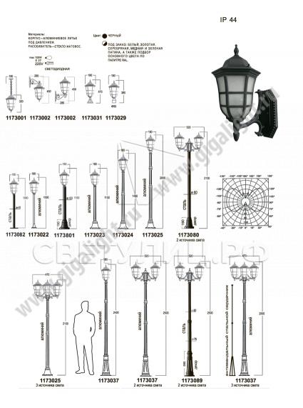 Садово-парковые светильники 1173 1