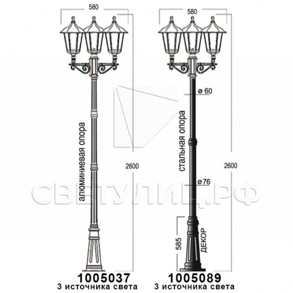 Садово-парковые светильники 1001, 1005, 2036, 2037 в Актобе 26