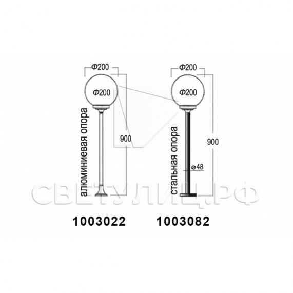 Садово-парковые светильники 1003, 1015, 2041, 2053 14