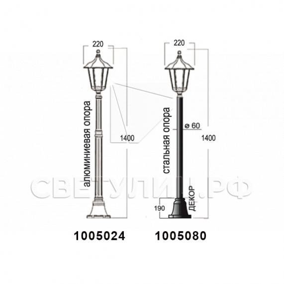 Садово-парковые светильники 1001, 1005, 2036, 2037 в Актобе 20