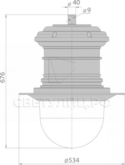 Светодиодный уличный светильник Нара исторический светильник И2 в Актобе 7
