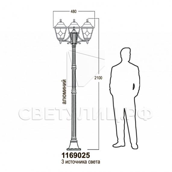 Садово-парковые светильники 1169 11