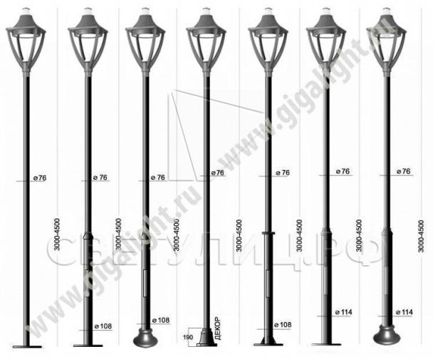 Садово-парковые светильники 3265 2