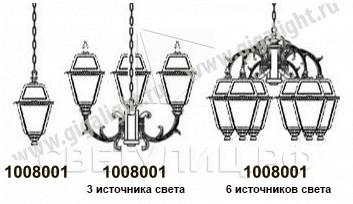 Садово-парковые светильники 1008 1