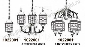 Садово-парковые светильники 1022, 2046 1