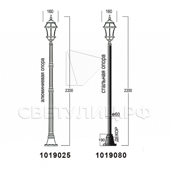Садово-парковые светильники 1019, 2045 15