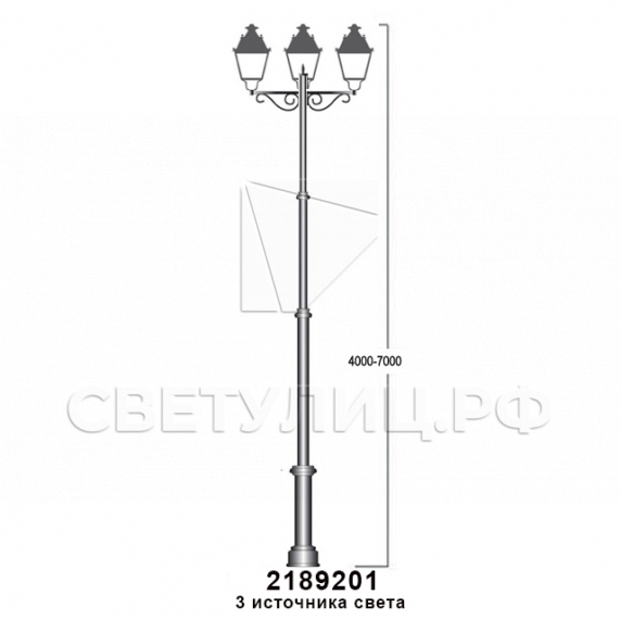 Садово-парковые светильники 1002, 1009, 2039, 2189 47