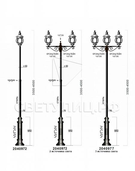 Садово-парковые светильники 1010, 2040, 2051 в Актобе 4