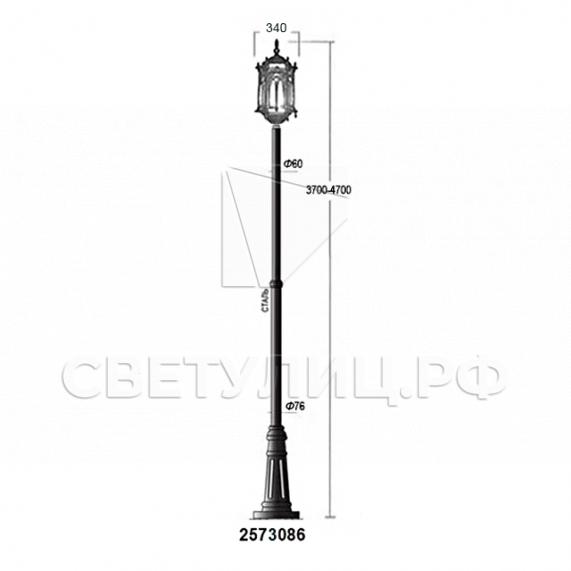 Садово-парковые светильники 1204, 2574, 2573 в Актобе 32