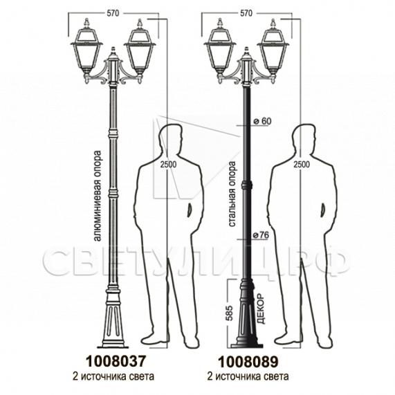 Садово-парковые светильники 1008 14