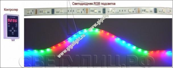 Садово-парковые светильники cветодиодная RGB лента 1
