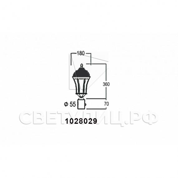 Садово-парковые светильники 1028, 2047 12