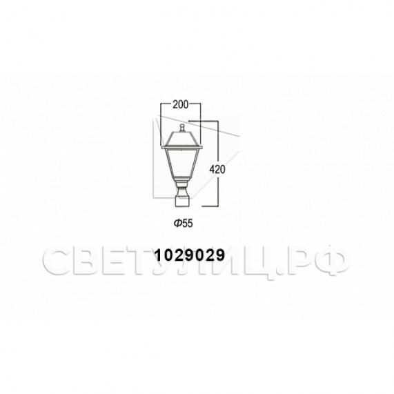 Садово-парковые светильники 1029 6