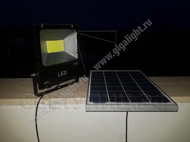 Прожектор светодиодный на солнечной батарее 30 Вт - 5853 в Актобе 1