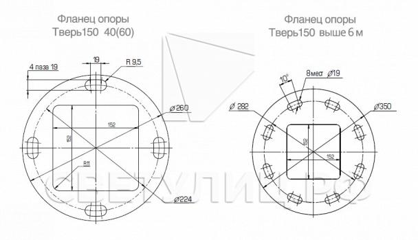 Металлическая светодиодная система уличного освещения Тверь 150 10
