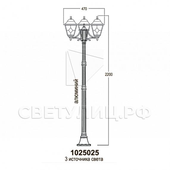 Садово-парковые светильники 1025 15