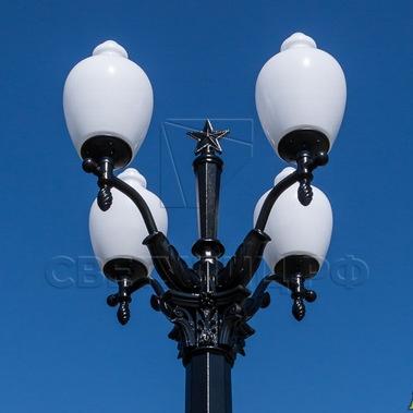 Опора наружного освещения литая чугунная Сталинград в Актобе 3