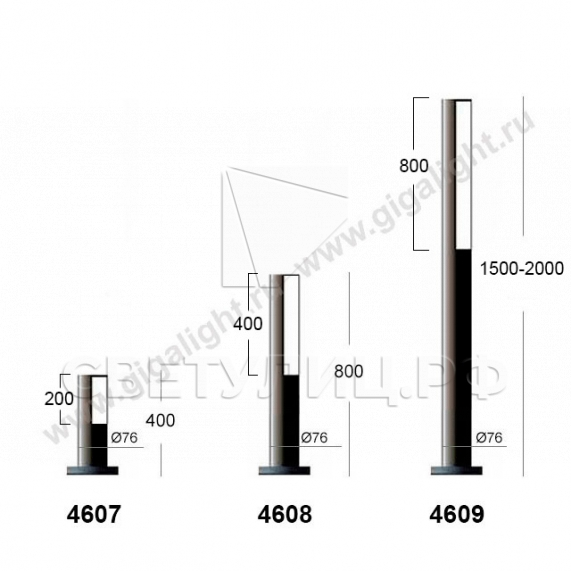 Газонные светильники 4601-4609 3