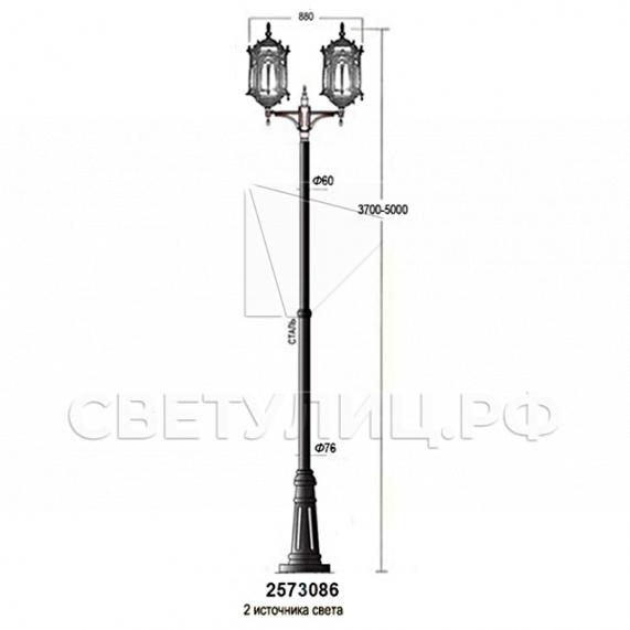 Садово-парковые светильники 1204, 2574, 2573 в Актобе 33