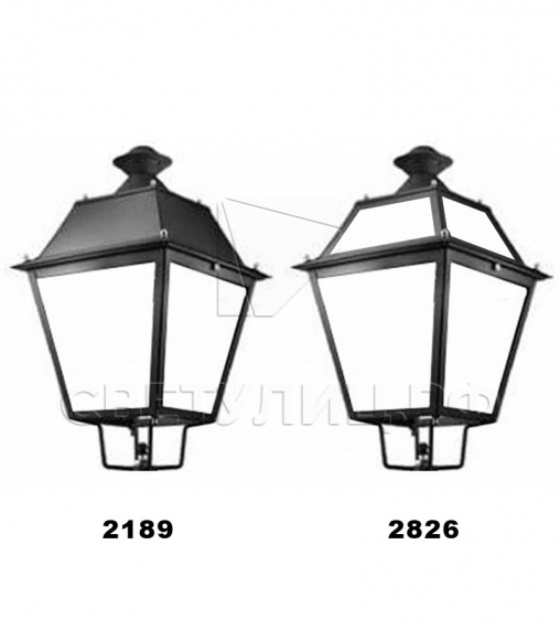 Садово-парковые светильники 2189, 2826 1
