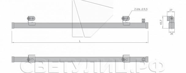 Уличный светодиодный светильник МикроЛайн 3