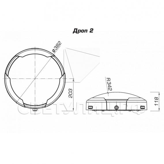 Светильник светодиодный потолочный / настенный ДРОП 4