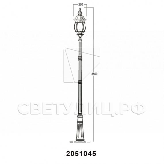 Садово-парковые светильники 1010, 2040, 2051 в Актобе 37