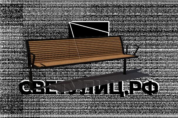 Стрит скамейка СК51 в Актобе 0